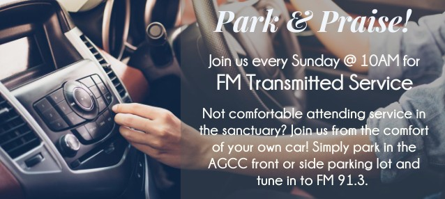Park & Praise Every Sunday at 10AM